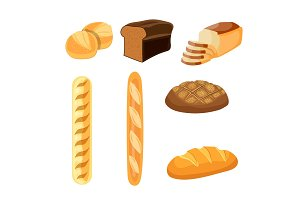 Bakery shop vector icons.