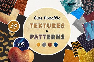 Cute Metallic Textures and Patterns