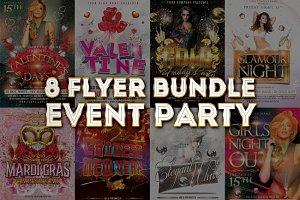 8 Flyer Bundle Event Party