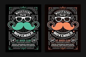 Movember Moustache Party Flyer