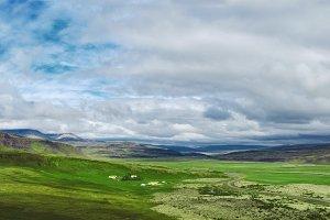 beautiful mountain landscape in Iceland