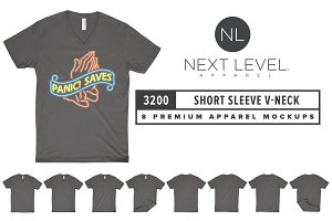 Next Level 3200 Short Sleeve V-Neck