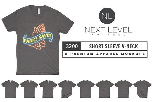 Download Next Level 3200 Short Sleeve V-Neck