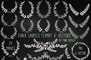 Chalkboard Laurels Clipart & Vectors