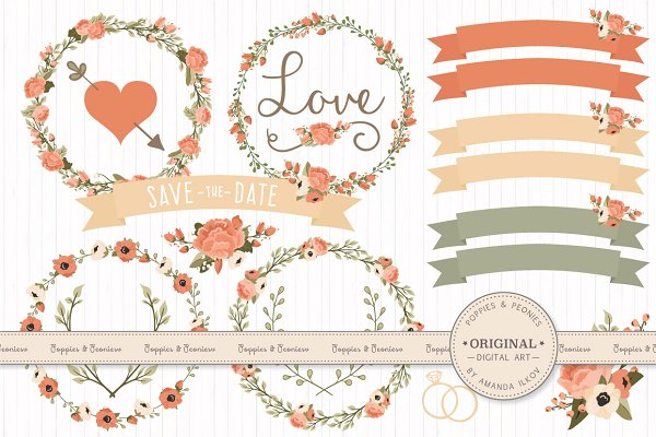Wedding Floral Clipart & Vectors