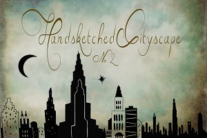 Handsketched Cityscape Clipart Set 2