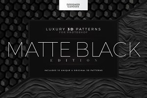 3D Patterns Matte Black Edition