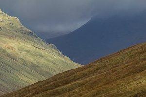 Autumn mounts landscape in Scottish rocks - skye island