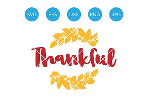 Thankful SVG Thanksgiving Cut File