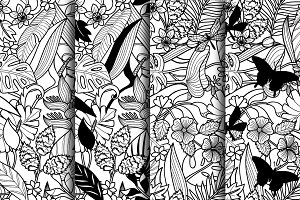 4Tropical Coloring Seamless Patterns