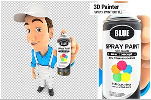 3D Painter Spray Paint Bottle