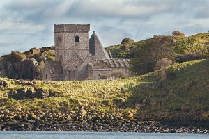Ruins of an old castle in Scotland - inchcolm island, Edinburgh