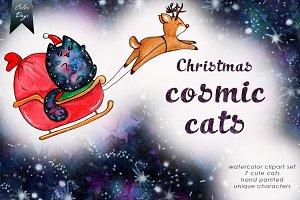 Christmas Cosmic Cats + FREE bonus