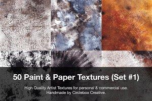 50 Paint & Paper Textures (Set #1)