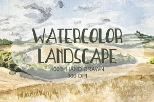 Watercolor Hand Drawn Landscape 008