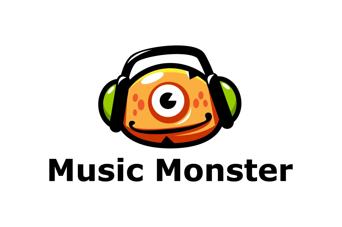 Music Monster Logo Template ~ Logo Templates ~ Creative Market
