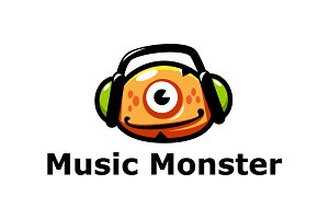 Music Monster Logo Template