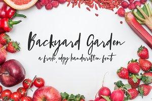 Backyard Garden Script Font