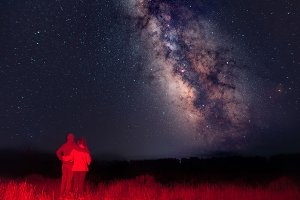 Couple Looking at the Milky Way