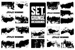 Set of grunge backgrounds.