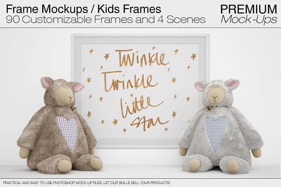 Frame Mockups - Nursery Fra-Graphicriver中文最全的素材分享平台