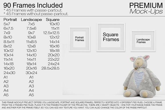 Frame Mockups - Nursery Frames ~ Product Mockups ~ Creative Market