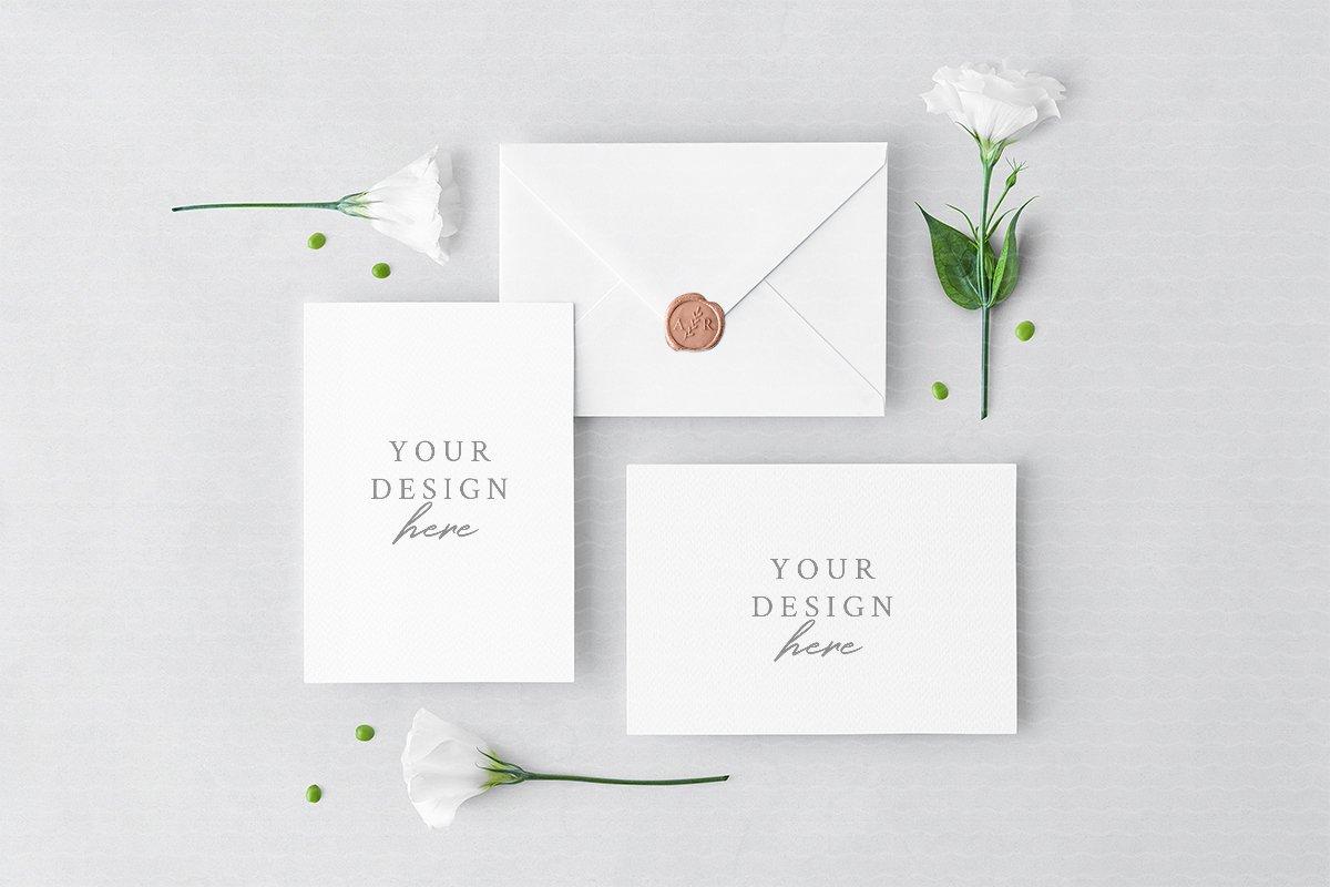 Invitation Cards Envelope Creative Print Mockups Creative Market