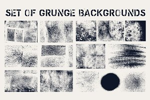 Set of grunge textures.