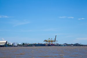 Shipping port.