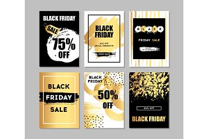Black friday sale. Black web banner. Poster Sale. The original inscription. Vector illustration