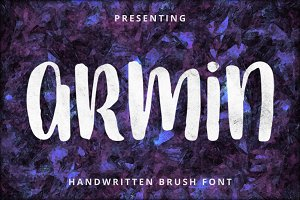 Armin - Handwritten Brush Font