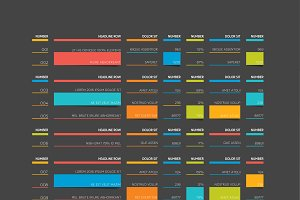 Table, schedule, tab, infographics