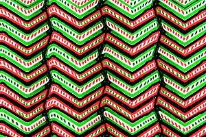 Zig Zag Multicolored Ethnic Pattern