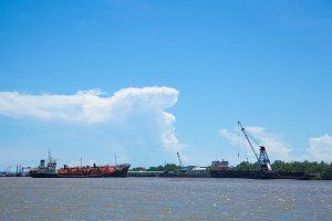 large cargo ship.
