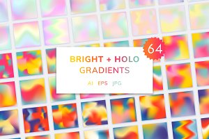 Bright+Holographic Gradient Textures