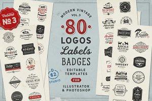 80 Modern Vintage Logos vol 3