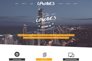 UPWAVES - Creatives PSD Web Template