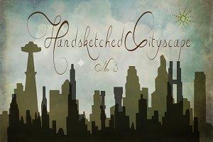 Handsketched Cityscape Clipart Set 3