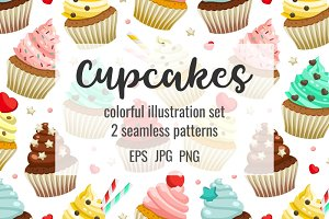 Cupcakes set & patterns