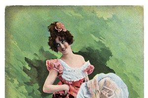 burlesque woman, 1900