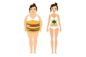 Woman diet concept