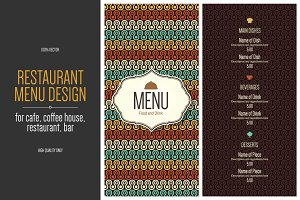 2 Restaurant menu design