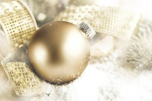 Golden shiny bubble deco xmas