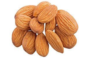 Group of almonds nut isolated
