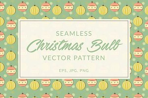 Retro Christmas Bulb Seamless Patter