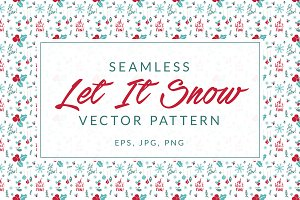"""Let It Snow"" Christmas Pattern"