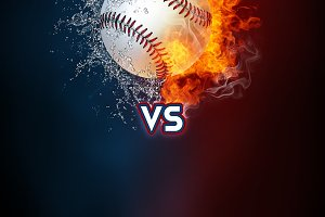 Baseball sports tournament modern poster template.