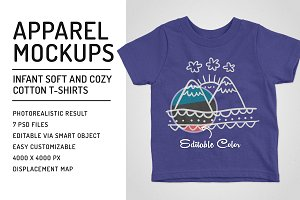Infant Soft-Cotton T-Shirts Mockups