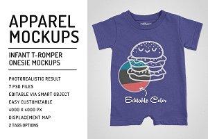 Infant T-Romper Onesie Mockups