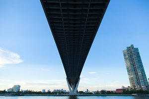 Bridge over a large river.